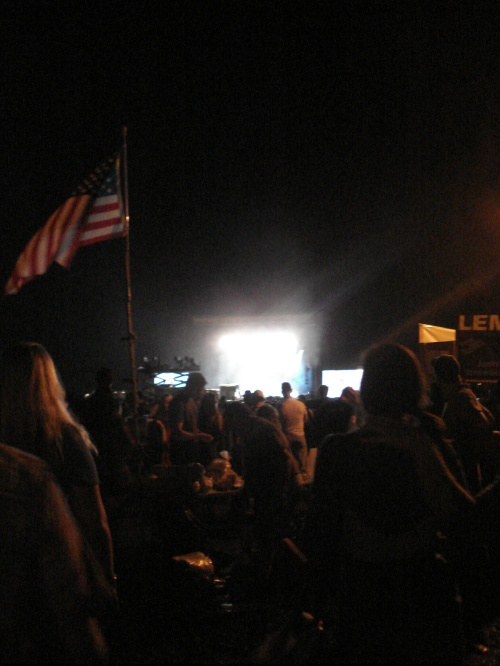 Main Stage and flag