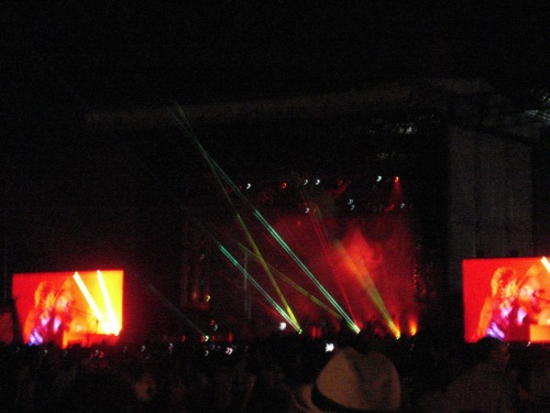 Coldplay w/ crazy laser beams @ All Points West 2009