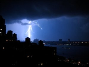 Scene from a rooftop on 106th street last night. Photo Credit: Melissa Hersh